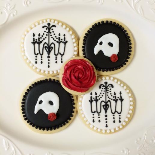 Phantom of the Opera Cookies / © Dallas Bakes! 2014