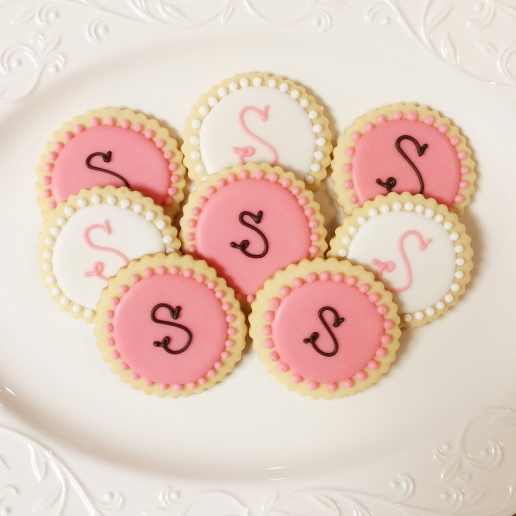 Wedding Monogram Cookies / © Dallas Bakes! 2014