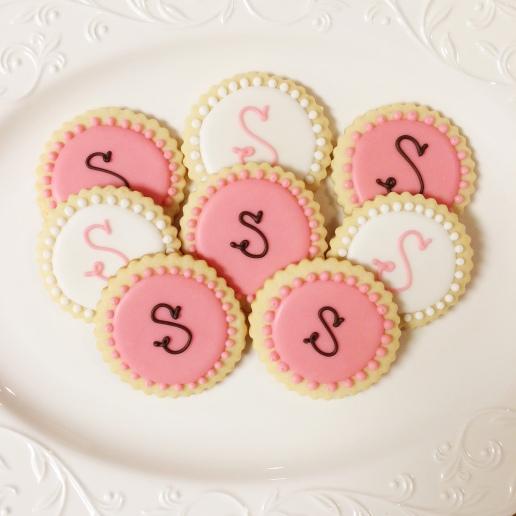 Wedding Monogram Cookies / © Dallas Bakes! 2014