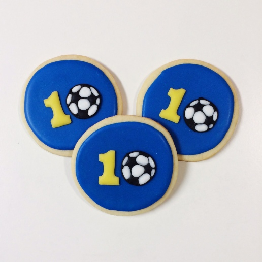 Soccer 10th Birthday Cookies / © Dallas Bakes! 2014