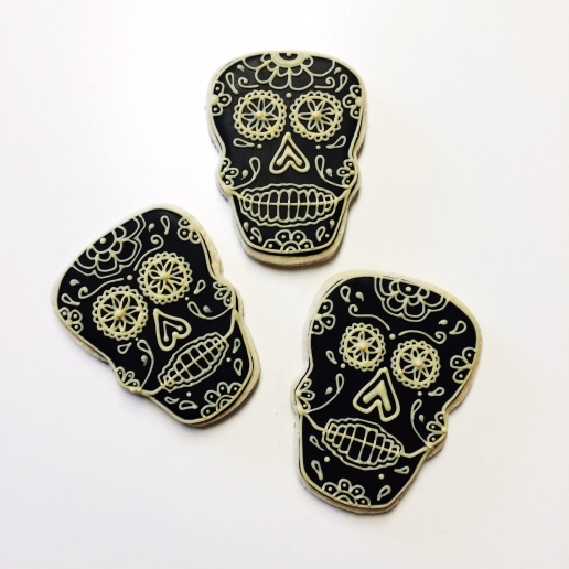 Day of the Dead Skull Cookies / © Dallas Bakes! 2014