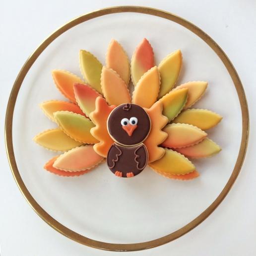 Thanksgiving Turkey Platter Cookies