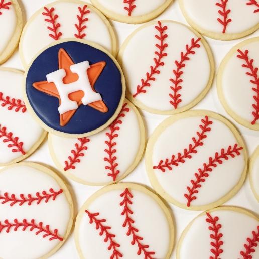 Houston Astros Baseball Cookies / © Dallas Bakes! 2015