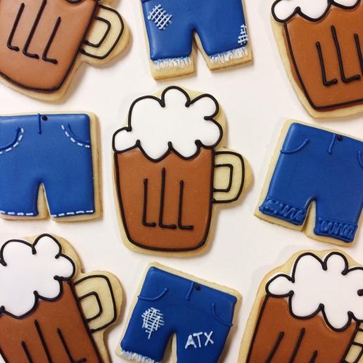 Jorts and Beer Mug Cookies / © Dallas Bakes! 2015