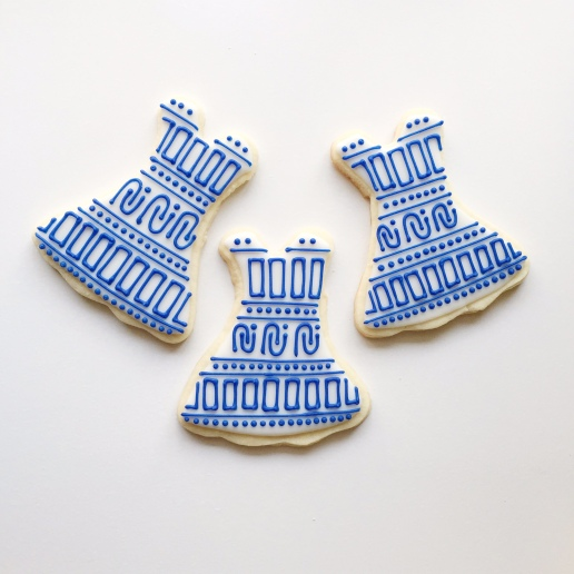 Jude Connally Dress Cookies / © Dallas Bakes! 2015