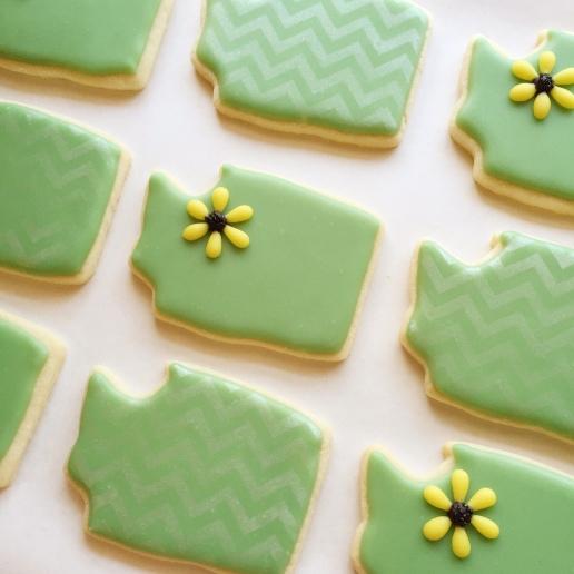 Wedding Washington State Cookies / © Dallas Bakes! 2015
