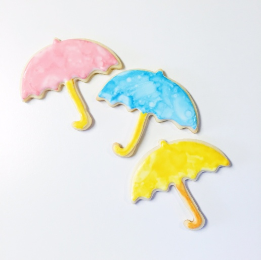 Baby Shower Umbrella Cookies / © Dallas Bakes! 2015