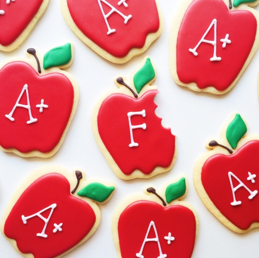 Teacher Appreciation Apple Cookies © Dallas Bakes! 2015