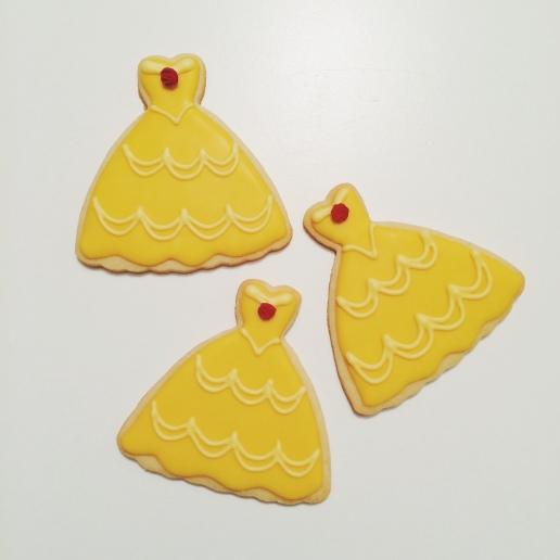 Belle Dress Cookies / © Dallas Bakes! 2014