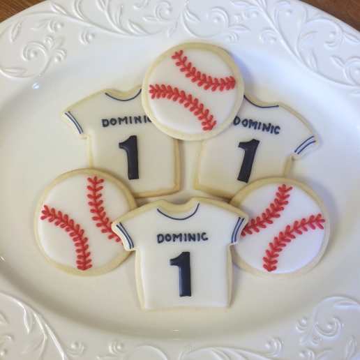 Baseball Birthday Cookies / © Dallas Bakes! 2014