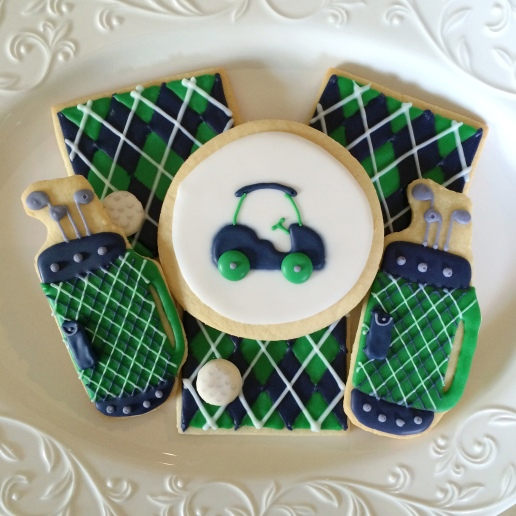 Golf Birthday Cookies / © Dallas Bakes! 2014