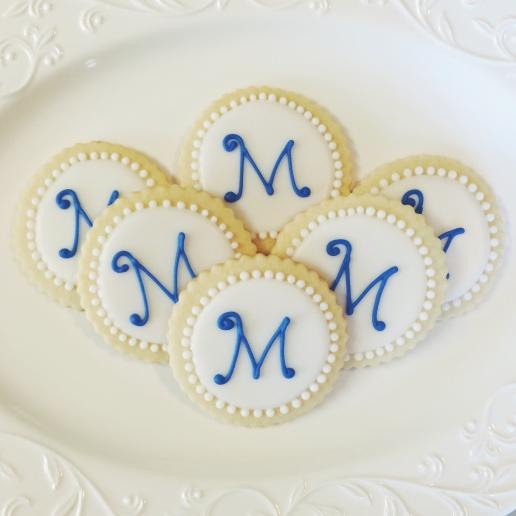 Bridal Shower Monogram Cookies / © Dallas Bakes! 2014