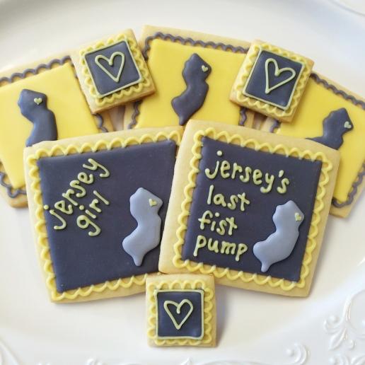 Bachelorette Jersey Girl Cookies / © Dallas Bakes! 2014