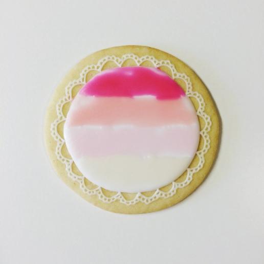 Ombre Wedding Cookie / © Dallas Bakes! 2014