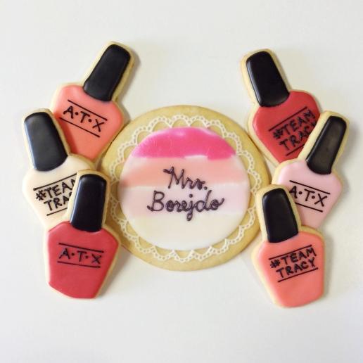 Bachelorette Nail Polish Cookies / © Dallas Bakes! 2014