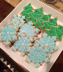 Snowflake and Christmas Tree Cookies