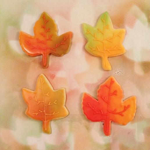 Fall Leaf Cookies / © Dallas Bakes! 2013