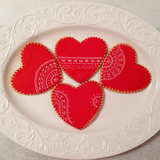 Valentine's Lace Heart Cookies / © Dallas Bakes! 2013