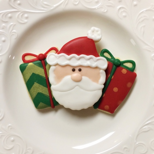 Santa Clause and Gift Cookies / © Dallas Bakes! 2015