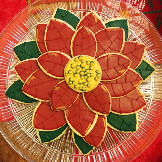 Poinsettia Cookie Platter / © Dallas Bakes! 2015