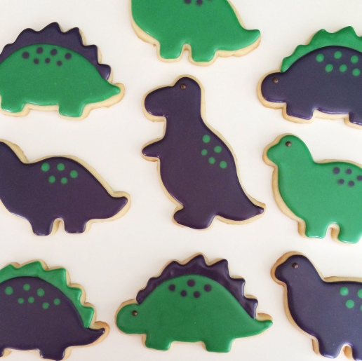 Dinosaur Cookies / © Dallas Bakes! 2015