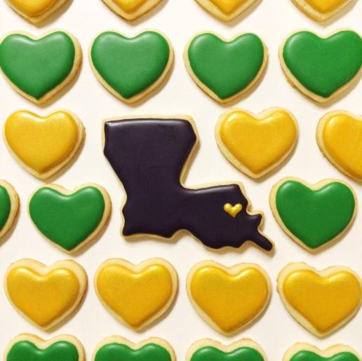 Mardi Gras Cookies / © Dallas Bakes! 2015