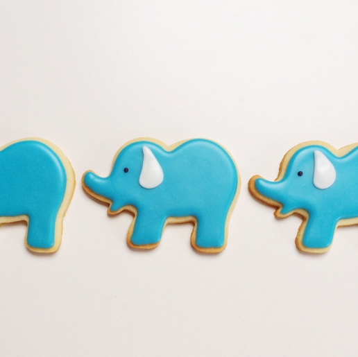 Elephant Cookies / © Dallas Bakes! 2015